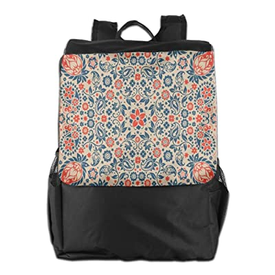 Newfood Ss Arabesque Floral Ornate Pattern Cultural Folk Persian Middle Eastern Print Outdoor Travel Backpack Bag For Men And Women lovely