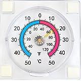 gardentec Double thermomètre de fenêtre à cadran analogique Idéal pour lire la température extérieure depuis votre intérieur De -50°C à +50°C
