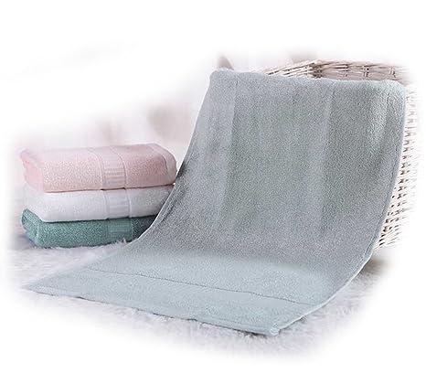 2 lujo baño mano/toallas de gimnasio de bambú, 35 cm x 74 cm