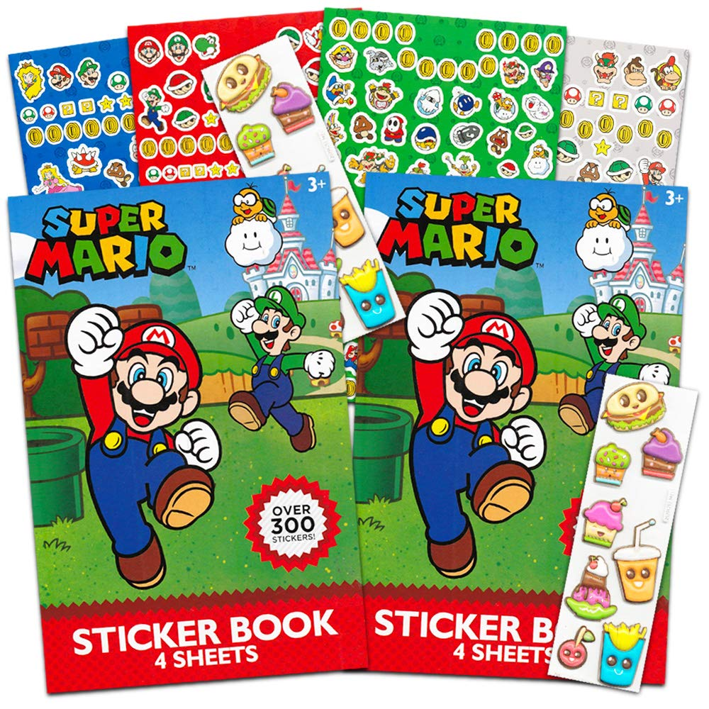 Amazon com nintendo super mario stickers party favor packs over 600 stickers toys games