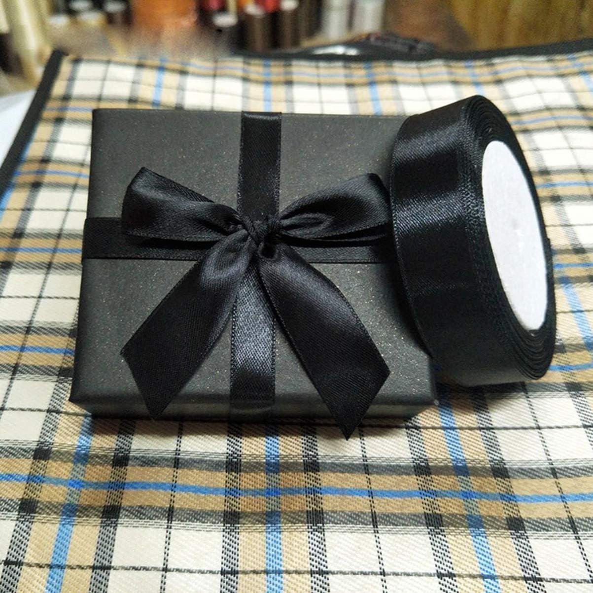scrapbooking confezione regalo regalo 2250 x 2.5 cm fiocchi per capelli Grigio Heally avvolgere nastro biadesivo in tessuto per artigianato Poliestere 1 rotolo di nastro di raso per regali