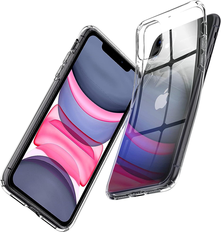 Spigen Funda Liquid Crystal Compatible con iPhone 11 - Transparente