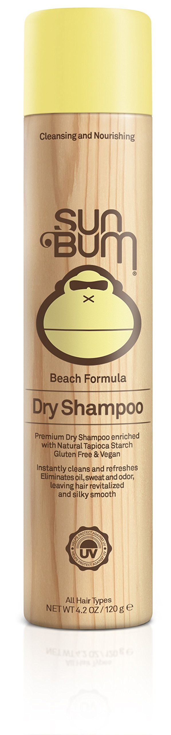 Sun Bum Beach Formula Revitalizing Dry Shampoo, 4.2 oz Bottle, 1 Count, Hair Refresher, Texturing Spray, Paraben Free, Oil Free, Gluten Free, Vegan