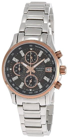 103b672efd4d CASIO 19824 SHN-5016D-1A - Reloj Señora cuarzo brazalete metálico dial negro   Amazon.es  Relojes