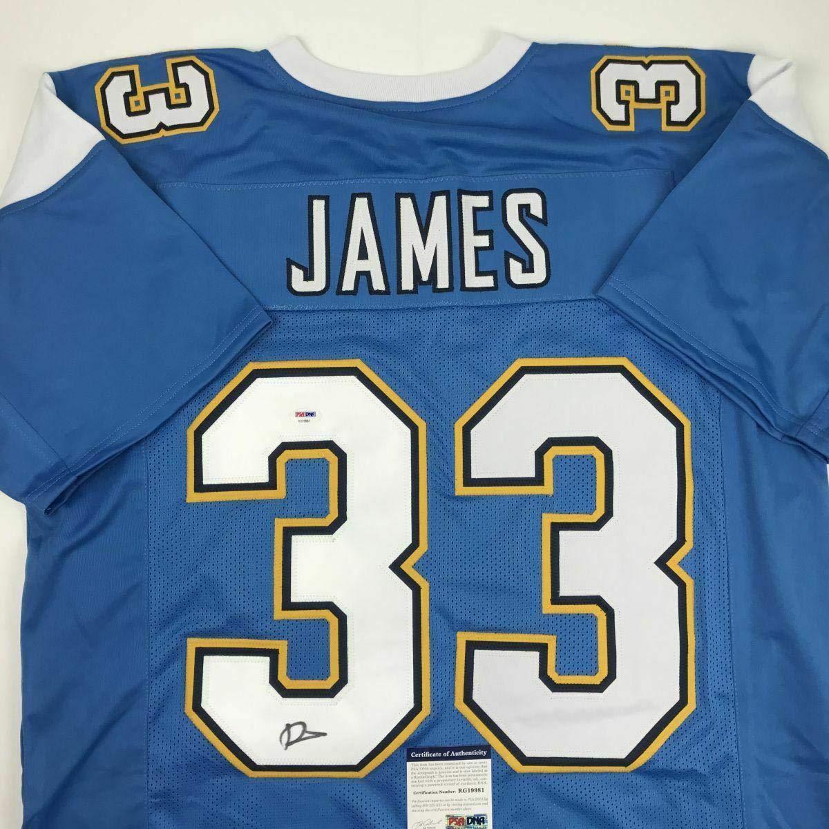 the best attitude bbbdc 99650 Derwin James Autographed Jersey - LA Powder Blue COA - PSA ...