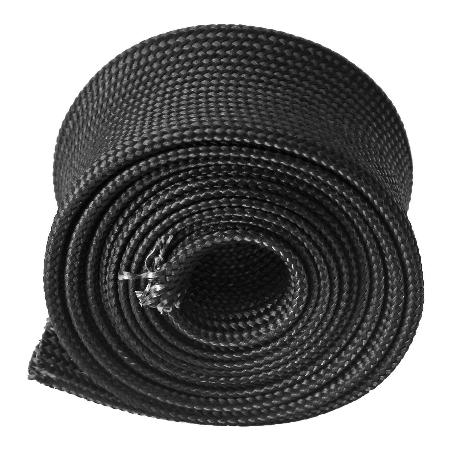 for Car Wire Loom Brake Line Cable Protection Heat Wrap Wire Shield Sleeve Fiberglass Adjustable Titanium High Temp 10FT-25MM 1
