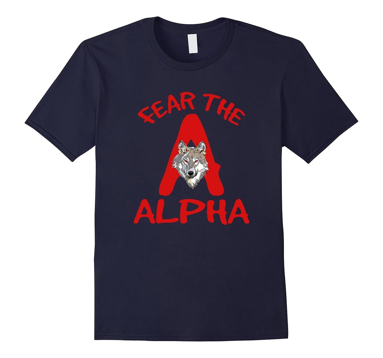 Fear The Alpha Shirt Wolf Male Werewolf Eyes by Wolfisms-TH