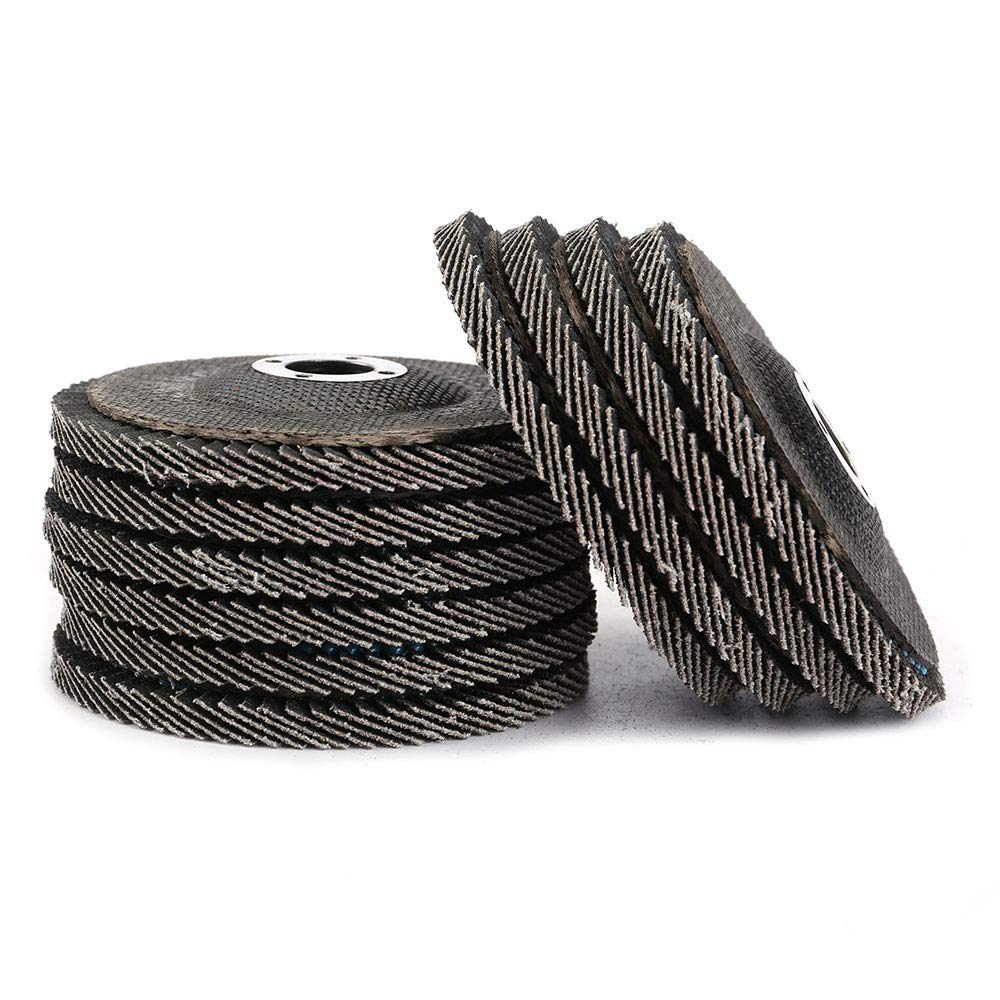 Liyafy 10PCS Aluminum Oxide Flap Disc Grinding Wheel 4 inch 80Grit Quick Change Sanding Grinding Wheels for Grit Angle Grinder