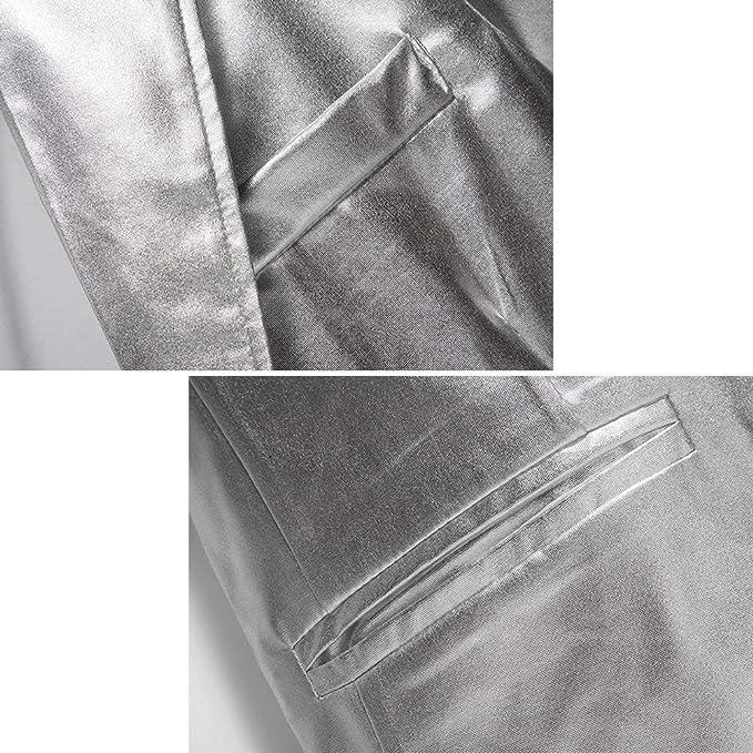 244c9984c5 Juveniles para Hombre Bronzing Slim Fit Trajes Casuales Escudo De Color  Ropa Sólido Discoteca Estilos Chaqueta De Traje 2 Botones Blazer Blazer  Jacket  ...