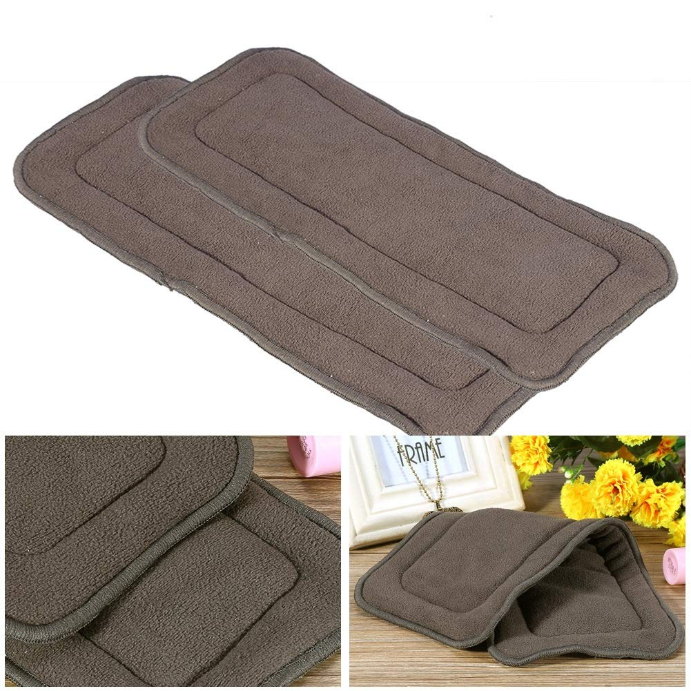 Size : S 2Sizes Washable 5 Layers Bamboo Charcoal Cloth Nappy Liner Super Absorbent Adult Diaper Insert