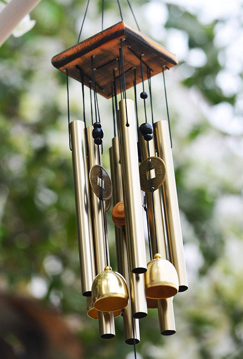 Four Tubes Three Bells Feng Shui Wind Chimes