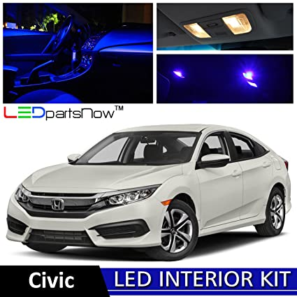 Gentil LEDpartsNow 2013 2018 Honda Civic LED Interior Lights Accessories  Replacement Package Kit (8 Pieces