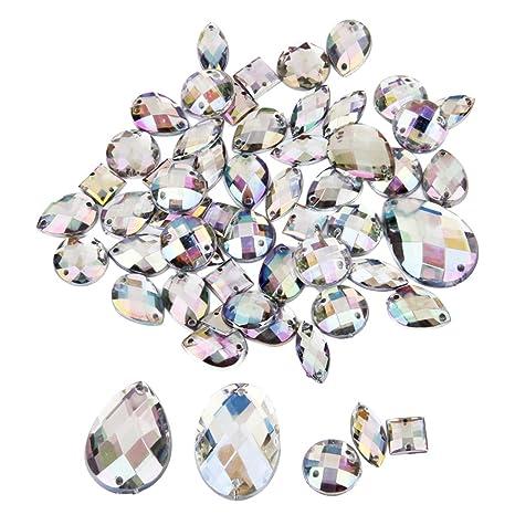 ef0ae65172ad Cristal Botón De Costura Decoración Artesanía Bricolaje Estilos 50pcs Mixtos