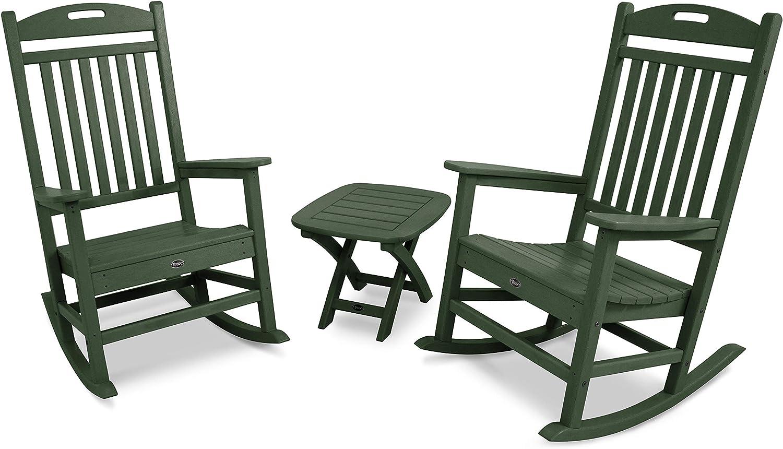 Trex Outdoor Furniture Yacht Club Rocking Chair Set, Rainforest Canopy