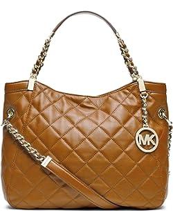 a9b2689a3d0f Michael Michael Kors Medium Susannah Quilted Shoulder Bag, Walnut