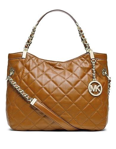 536086cd0716 Michael Michael Kors Medium Susannah Quilted Shoulder Bag, Walnut:  Handbags: Amazon.com