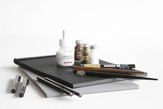 Clairefontaine 116112c Rhodia Black Maya Pad 50 Sheets Removable Paper With Maya Drawing 21 X 31 8 Cm 120 G Black Bürobedarf Schreibwaren