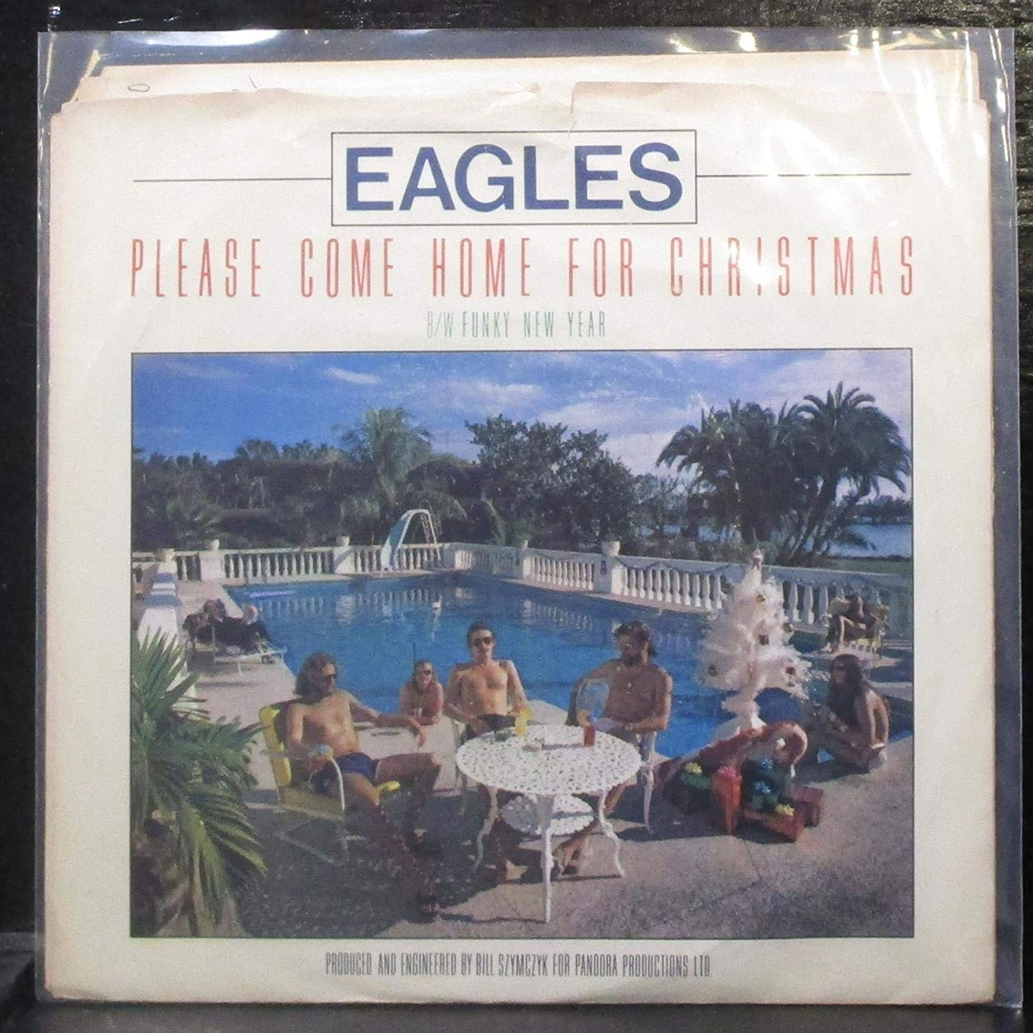 "Eagles - Please Come Home For Christmas / Funky New Year - 7"" Vinyl 45 Record"
