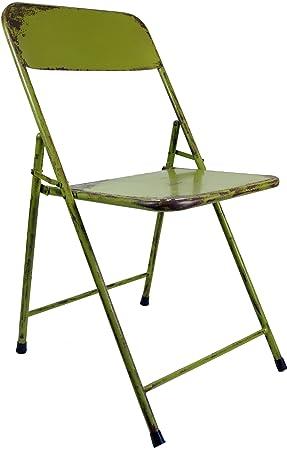 Guru Shop Chaise Pliante En Tuyau Metallique Design Industriel Vintage