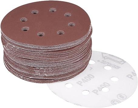 20Pcs 5 Inch Hook and Loop Sanding Disc 100 Grit Flocking Sandpaper Sander Paper