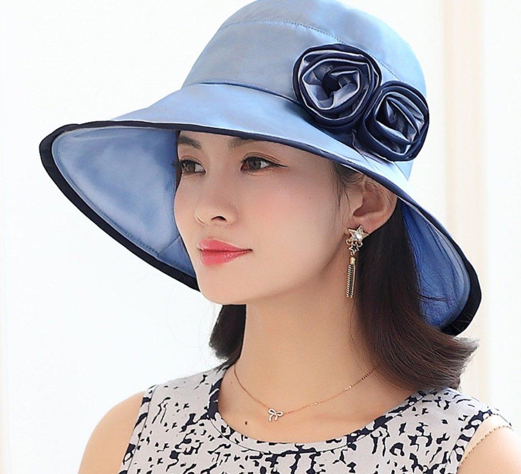 e430d269 Amazon.com : FANGSHAI Visor Hat Female Summer Korean Version Of The Sun Hat  Sunscreen Beach Hat UV Protection Cap ZXCV (Color : Blue) : Sports &  Outdoors