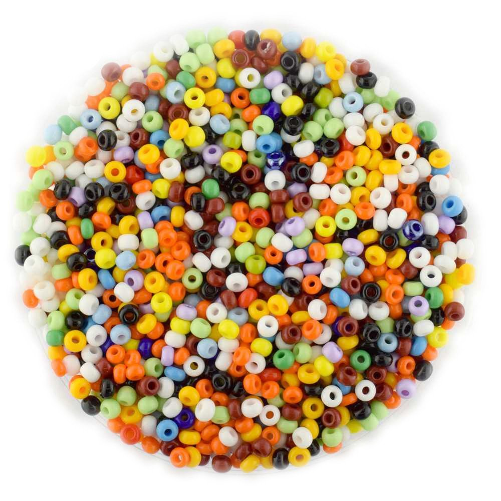 Size 8 Seed Beads Opaque Mix Qty 10 Grams