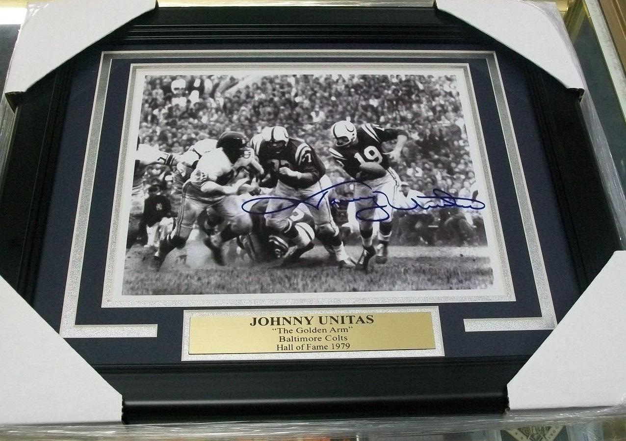 Autographed Johnny Unitas Picture Reprint 8x10 Autographed NFL Photos