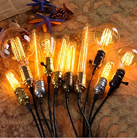 Amazon.com : Antique Retro Vintage 40W 220V Edison Light Bulb E27 Incandescent Bulbs Filament Bulb Edison Lamp Miniature Bulb Edison Bombilla : Everything ...