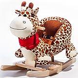 Toddler Indoor Ride On Rocking Giraffe Chair Toys Kids Rocking Animal, Rocket Bunny