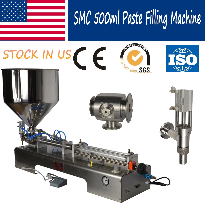 SMC Paste Liquid Cream Chilli Sauce Pedal Filling Machine 50-500ml USA STOCK by Youlian