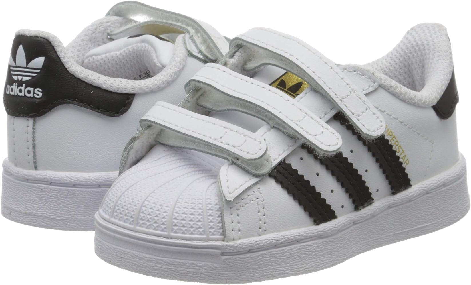 objetivo pagar El camarero  Amazon.com: adidas Unisex_Child Superstar CF I Sneaker, FTWR White Core  Black FTWR White, 9 UK: Shoes