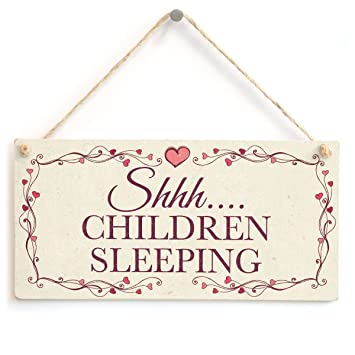 Amazon.com: Shhh.... Niños Sleeping – Hermosos hecho a mano ...