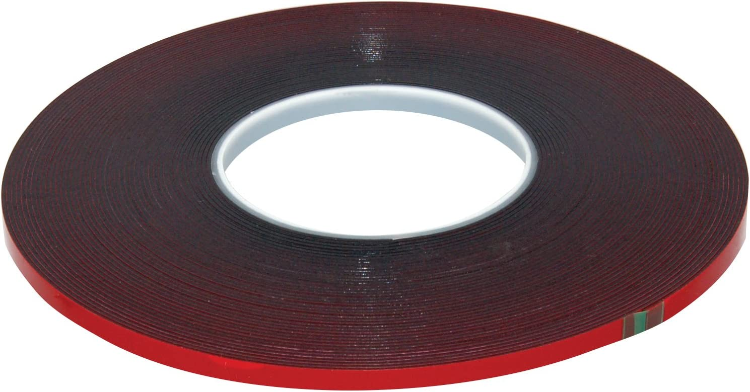 AES Industries 737 Premium Double Face Automotive Attachment Tape 1//4 x 60 Red Liner