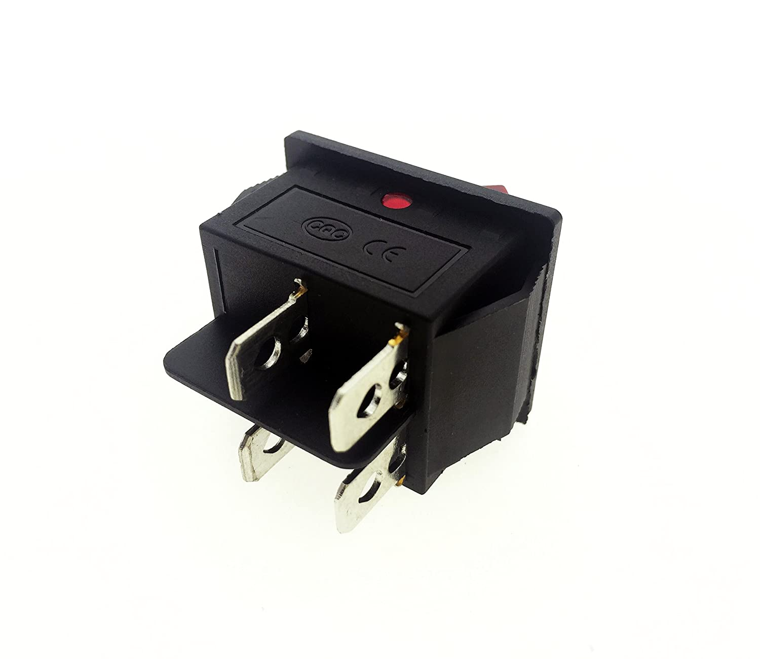 Red Light 4 Pin Dpst On Off Snap In Rocker Switch 15a Wiring Single Pole Throw Spst With Page 250v 20a 125v Ac 28x22mm Home Improvement