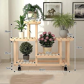 Antiseptic Holz Blumenstander Antikes 4 Schichten Naturliches