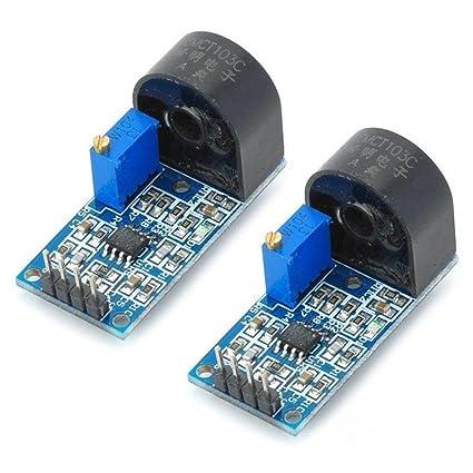 Optimus Electric - Módulo medidor de corriente alterna con sensor de alcance de hasta 5 A