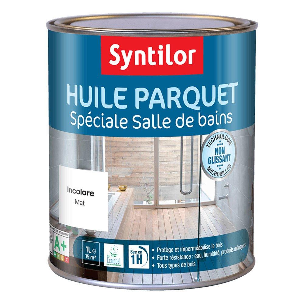 Syntilor - Huile Parquet Spé ciale Salle de Bains Incolore 1L 04391004