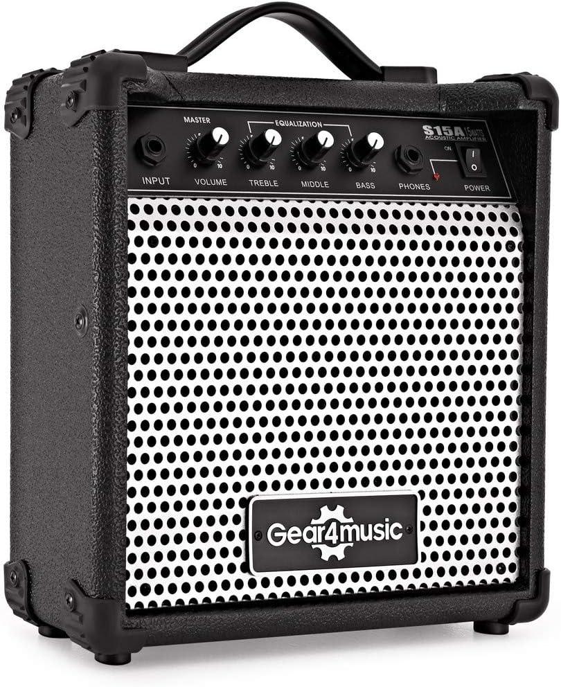Amplificador de Guitarra Acustica de 15W de Gear4music: Amazon.es ...