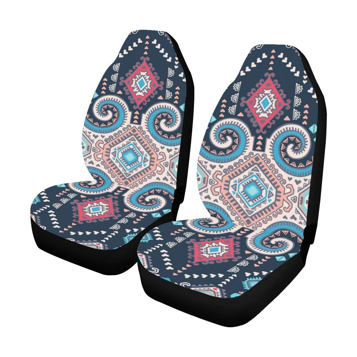 Messicano Vintage Tribal Ethnic Custom Nuovo Universale Auto Drive Car Seat Covers Protector per le donne Automobile Jeep Truck Suv Veicolo Set completo Accessori Per adulti Baby set di 2 anteriore