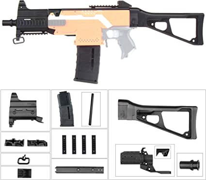 UMP-9 JGCWorker Mod Kits Set for Nerf N-Strike Elite Stryfe Upgrade Model Nerf Modulus Attachment