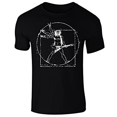 742c76efab2 Mens Da Vinci Vitruvian Man Guitar Rockstar Funny T-Shirt  Amazon.co.uk   Clothing