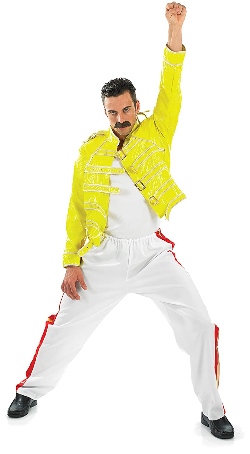 Freddie Mercury Wembley Outfit - We all remember Freddie's flamboyant performances on stage with his band Queen. In this costume you'll be instantly recognised as the legendary singer.