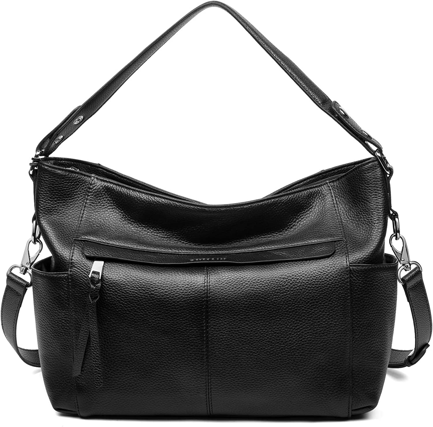 Soft Leather Hobo Handbags for Women, Work Daily Shoulder Tote Purses Crossbody Top Handle Large Bag