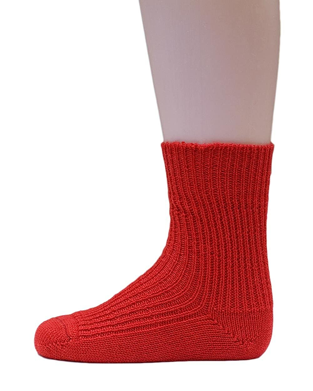 Hirsch Natur, Ribbed Socks for Babies and Children,100% Organic Wool 781