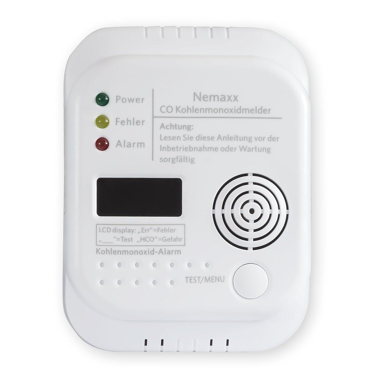 Detector inalámbrico de monóxido de Carbono Nemaxx a Pilas de Acuerdo con la Norma EN50291: Amazon.es: Bricolaje y herramientas