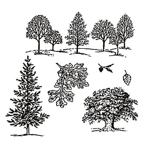Stanzschablone Wald Baum Set Weihnachten Geburstag Karte Album Tagebuch Deko DIY