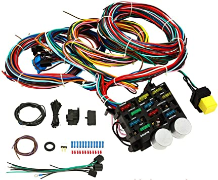 [DIAGRAM_38ZD]  Amazon.com: BETTERCLOUD Universal 12 Circuit Hot Rod Wiring Harness with  Fuse Block Compatible with Chevy Ford Muscle Car Street Rod XL Wires:  Automotive | Hot Rod Wiring Harness |  | Amazon.com