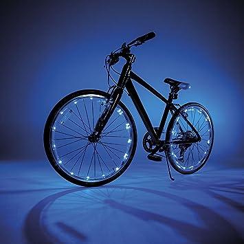 Luces LED para radios de rueda y marco de bicicleta, 2 unidades, de JML, azul: Amazon.es: Deportes y aire libre