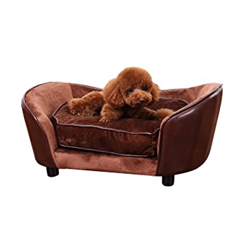 luxury pet furniture. pawhut luxury pet sofa dog bed chair puppy cat kitten soft mat home indoor couch house furniture
