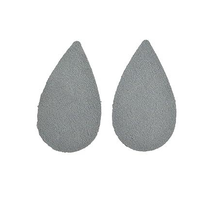 """Leather Earrings Teardrop Large Die Cut 12pk /""""Cali/"""" Yosemite Groovy Grey DIY"""